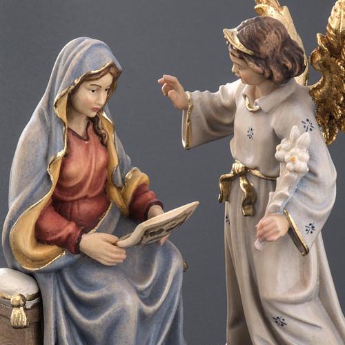 Annonciation de l'Ange Gabriel à Marie bois peint 5