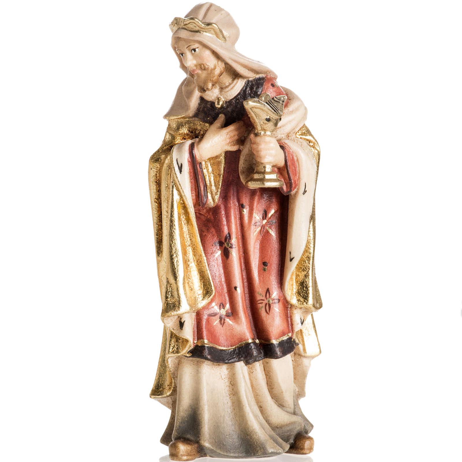 Adoration des Mages bois peint Val Gardena 4