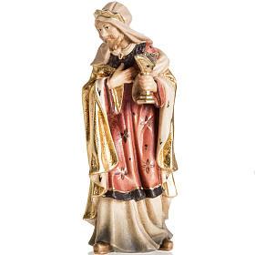 Adoration des Mages bois peint Val Gardena s2