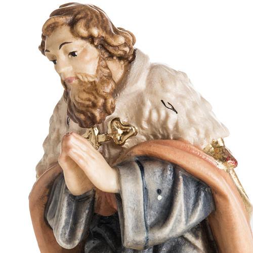 Adoration des Mages bois peint Val Gardena 7