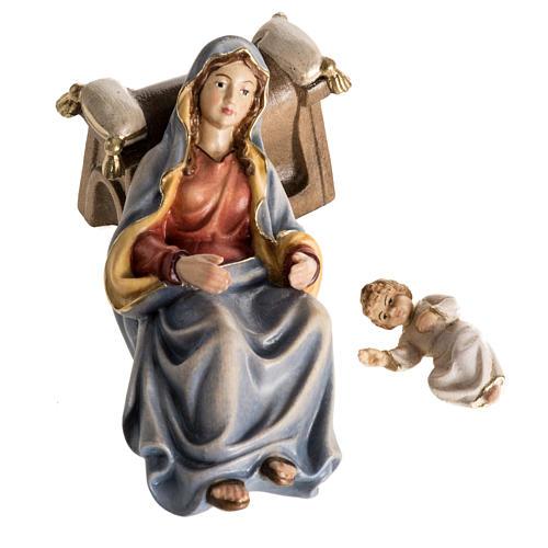 Adoration des Mages bois peint Val Gardena 10