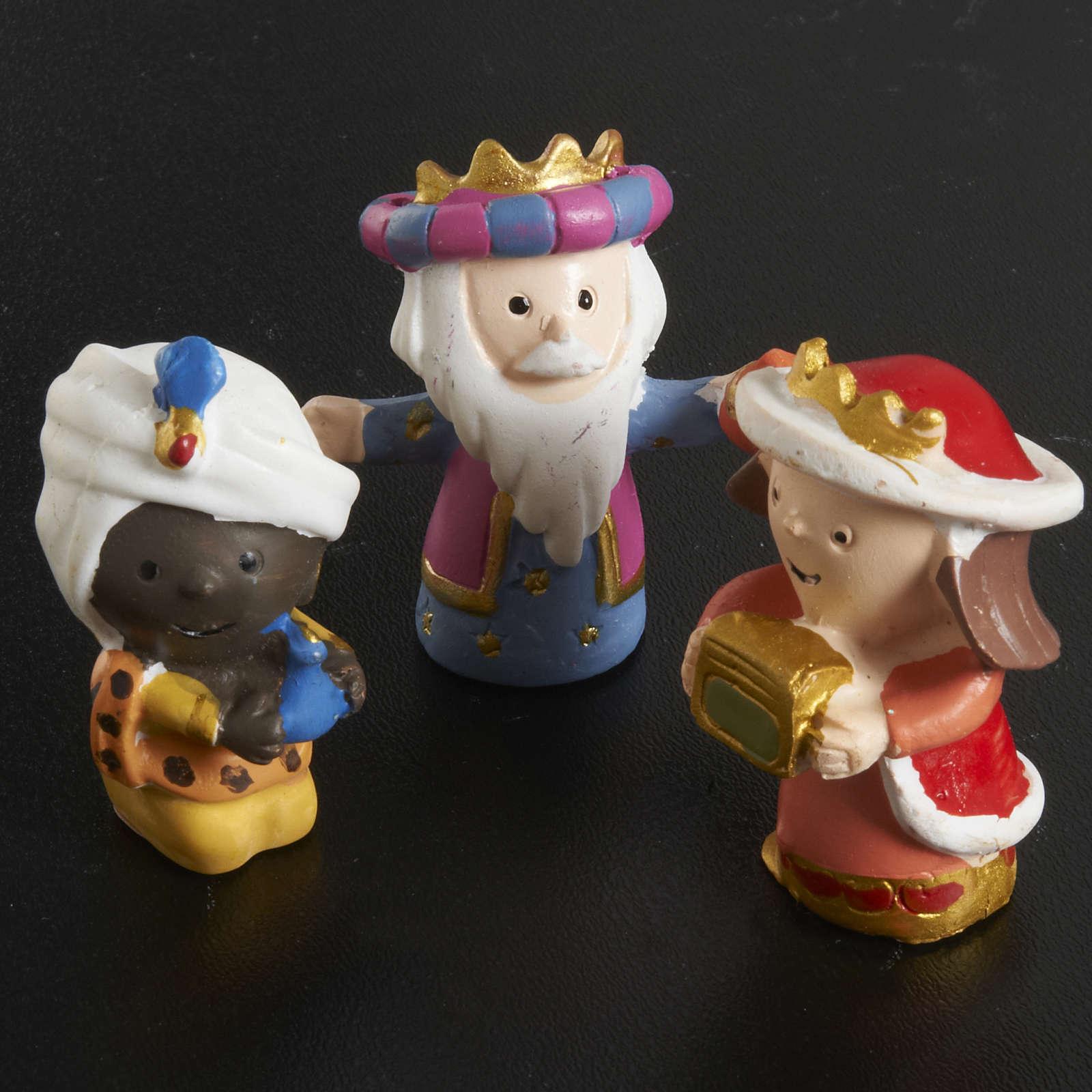 Szopka żywica kolorowa 8 figurek 4,5 cm 4