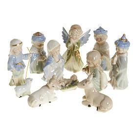 Nativity scene in ceramic, 11 figurines 10cm s1