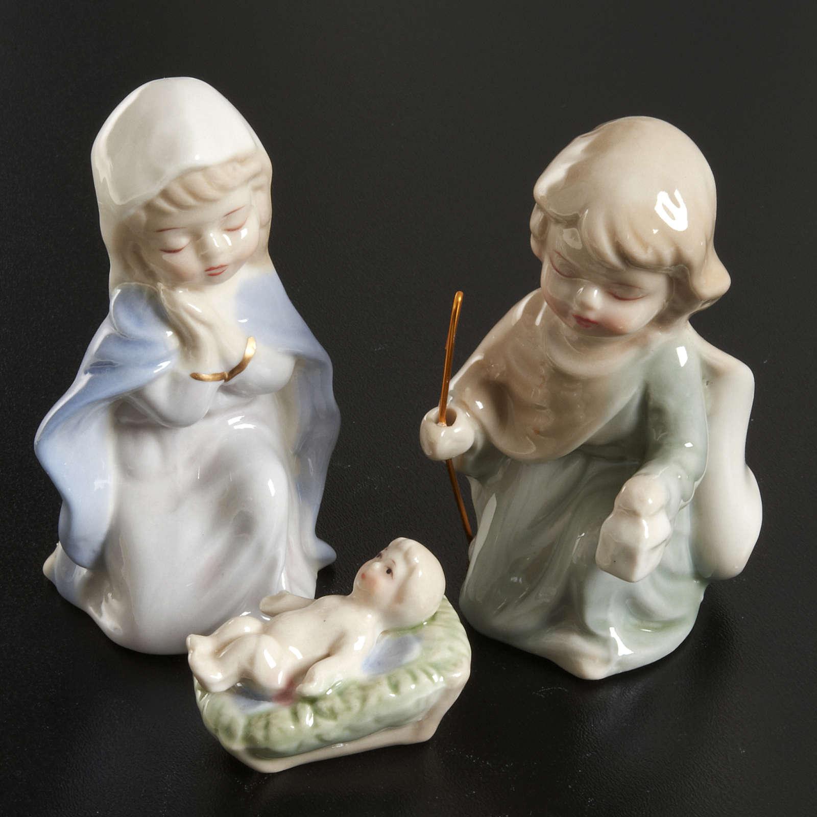 Pesebre de 11 estatuas de cerámica 10cm 4