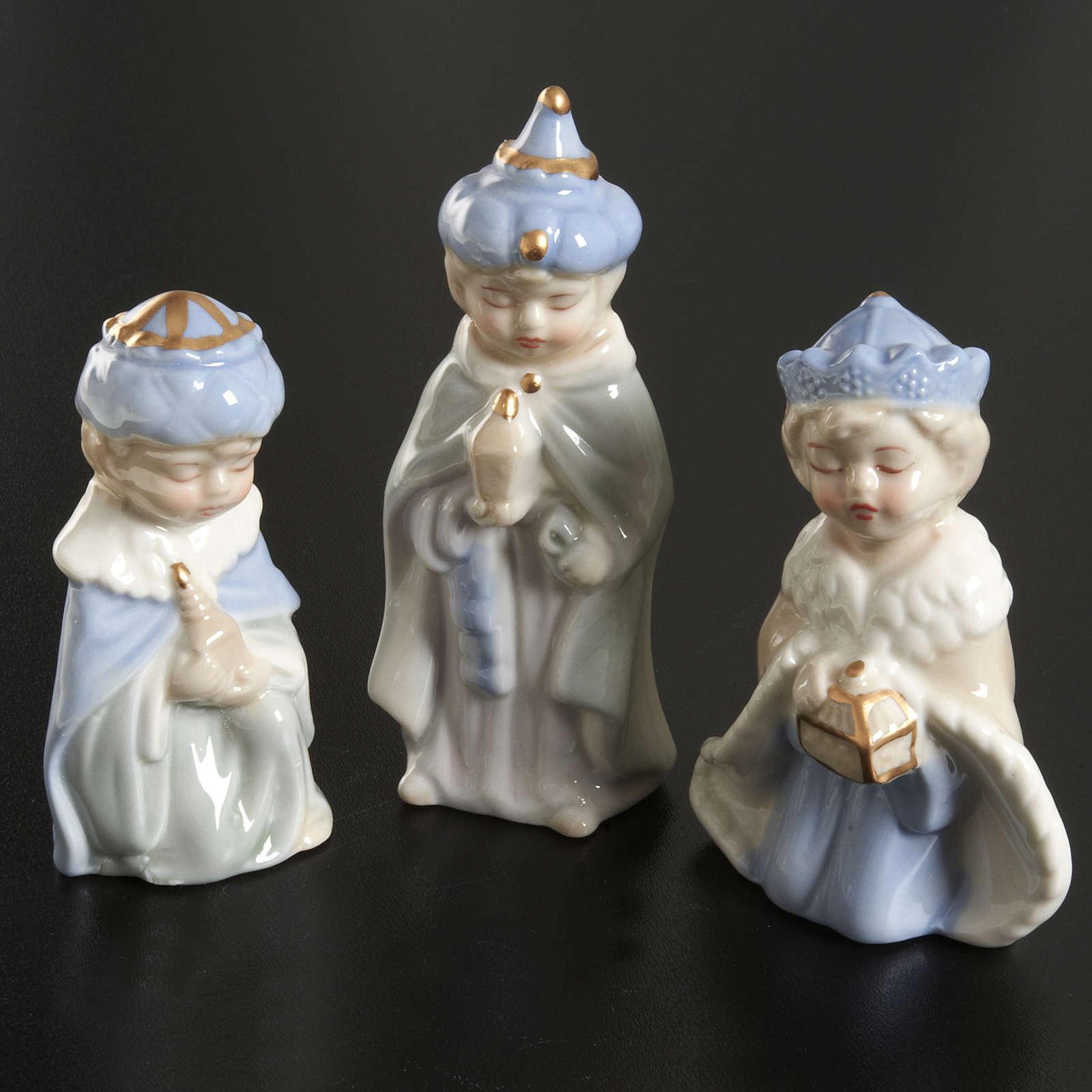 Presepe completo ceramica 11 statuine 10 cm 4