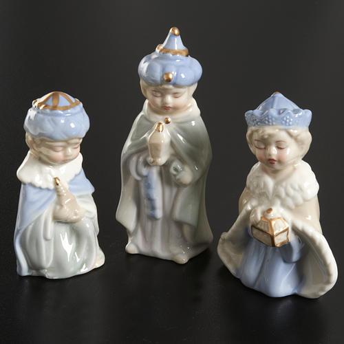 Presepe completo ceramica 11 statuine 10 cm 3