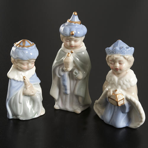 Nativity scene in ceramic, 11 figurines 10cm 3
