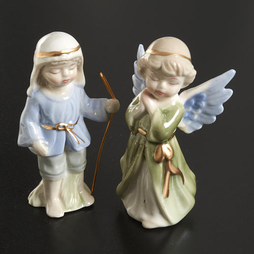 Nativity scene in ceramic, 11 figurines 10cm 4
