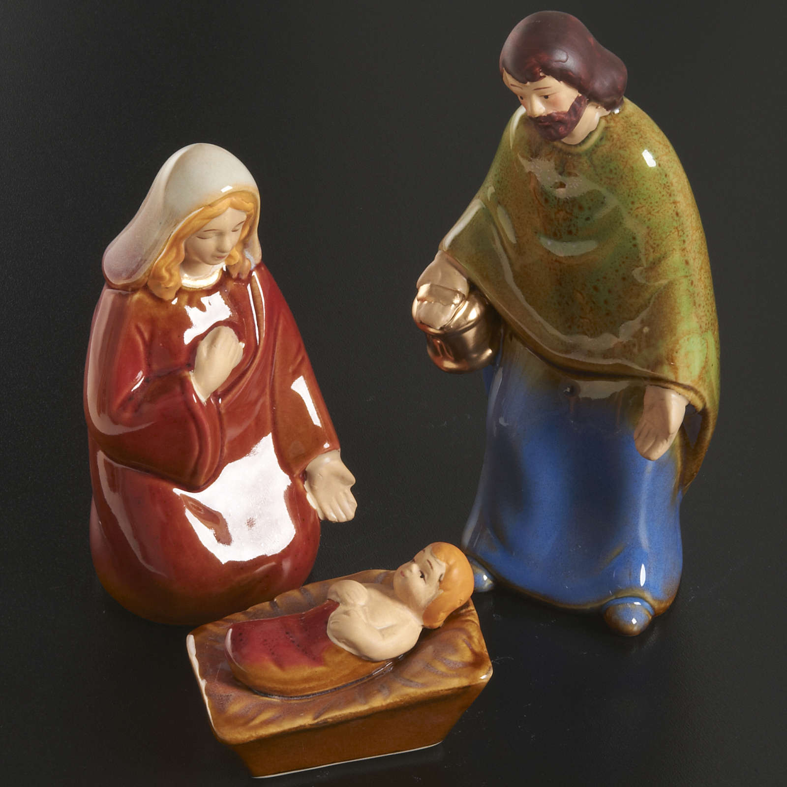 Nativity scene full set in ceramic, 11 figurines, 15 cm 4