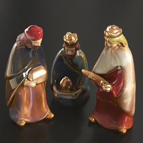 Nativity scene full set in ceramic, 11 figurines, 15 cm s3