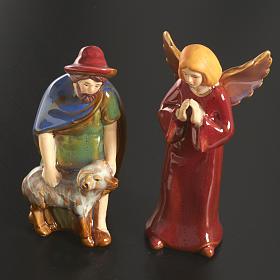 Nativity scene full set in ceramic, 11 figurines, 15 cm s4
