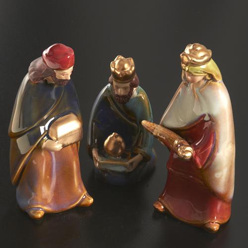 Nativity scene full set in ceramic, 11 figurines, 15 cm 3