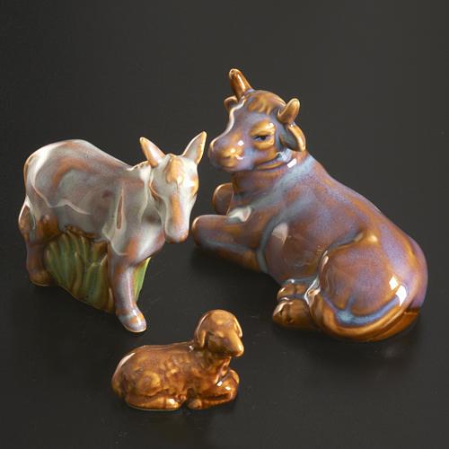 Nativity scene full set in ceramic, 11 figurines, 15 cm 5