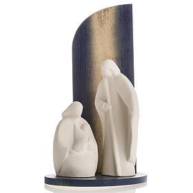 Presepe Noel argilla refrattaria legno gold 28 cm s2
