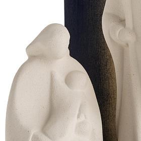 Presepe Noel argilla refrattaria legno gold 28 cm s3