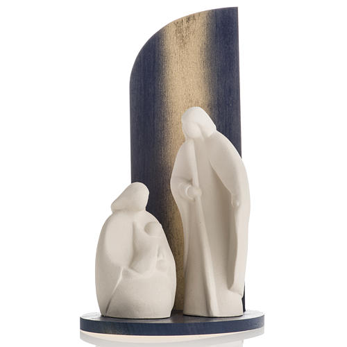 Presepe Noel argilla refrattaria legno gold 28 cm 2