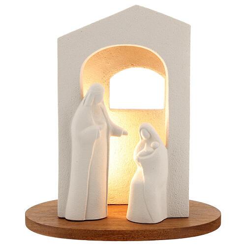 Presépio Natividade Luz argila branca h 25,5 cm 1