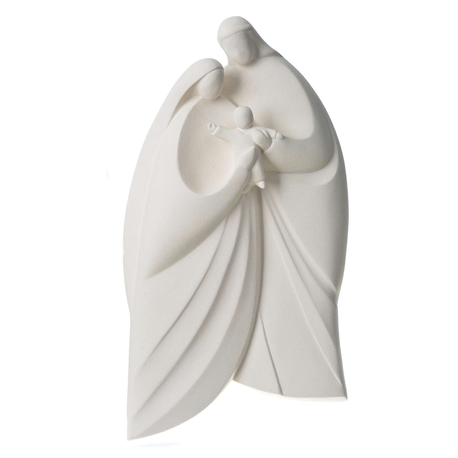 Sagrada Familia en arcilla blanca. Lis 39cm 4