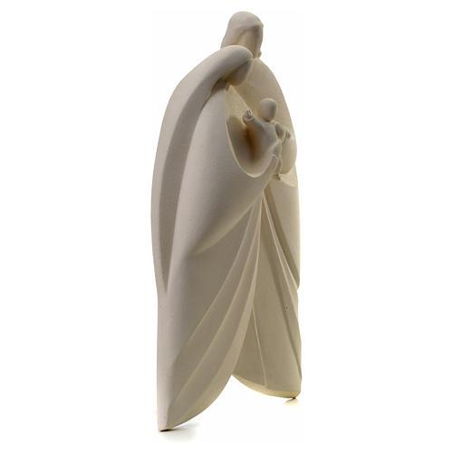 Sagrada Familia en arcilla blanca. Lis 39cm 6