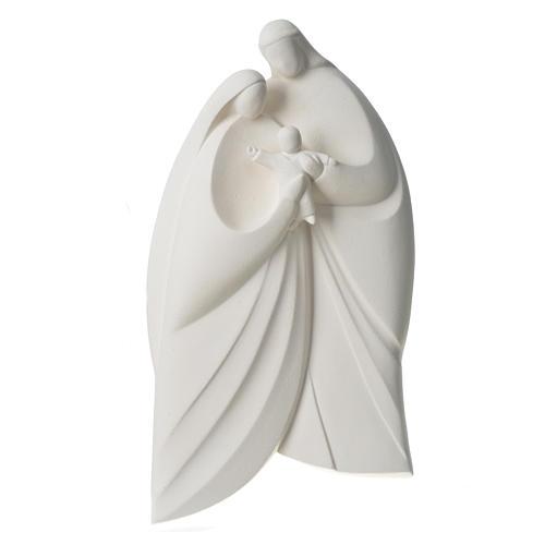Sagrada Familia en arcilla blanca. Lis 39cm 8