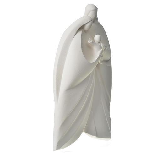 Sagrada Familia en arcilla blanca. Lis 39cm 3