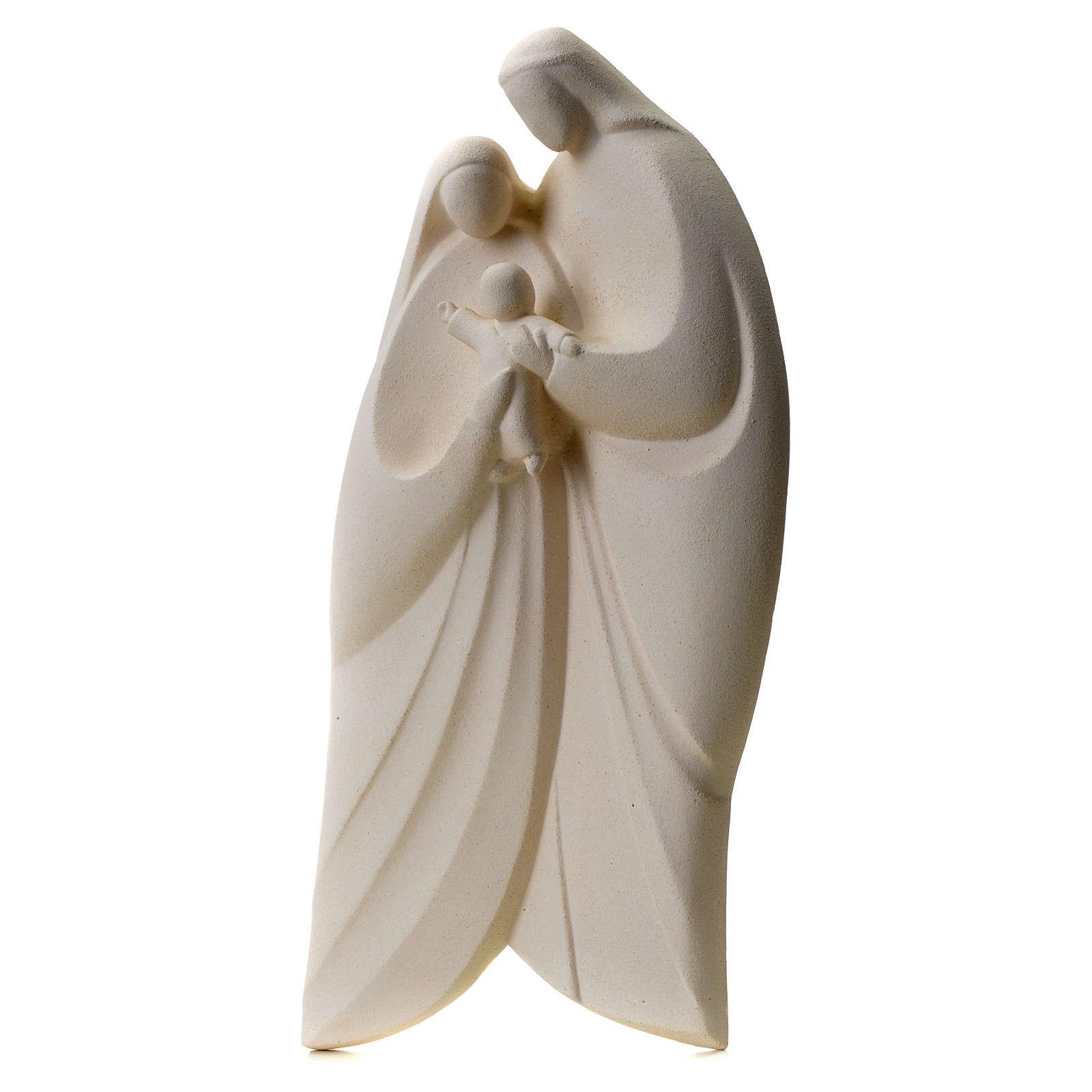 Sacra Famiglia argilla bianca mod. Lis 39 cm 4
