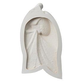 Sacra Famiglia argilla bianca mod. Lis 39 cm s11