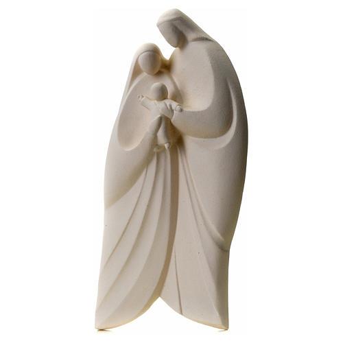 Sacra Famiglia argilla bianca mod. Lis 39 cm 7