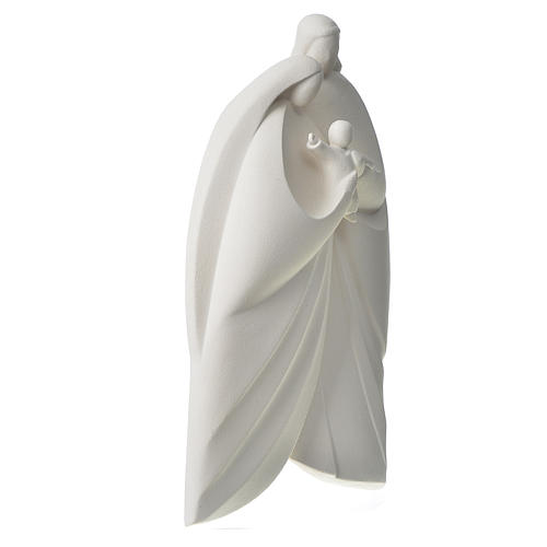 Sacra Famiglia argilla bianca mod. Lis 39 cm 3