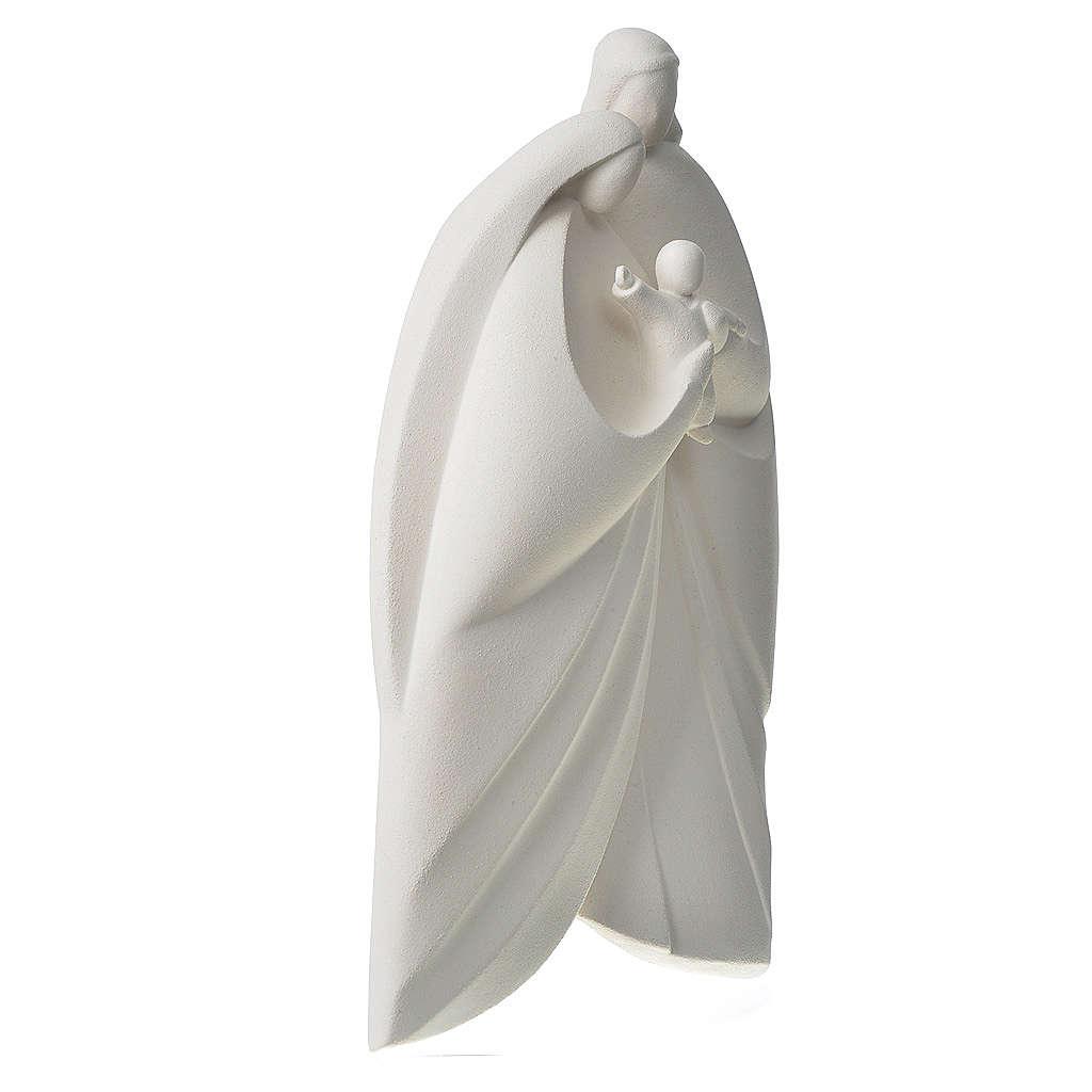Holy Family in white clay, Lis model 39cm 4