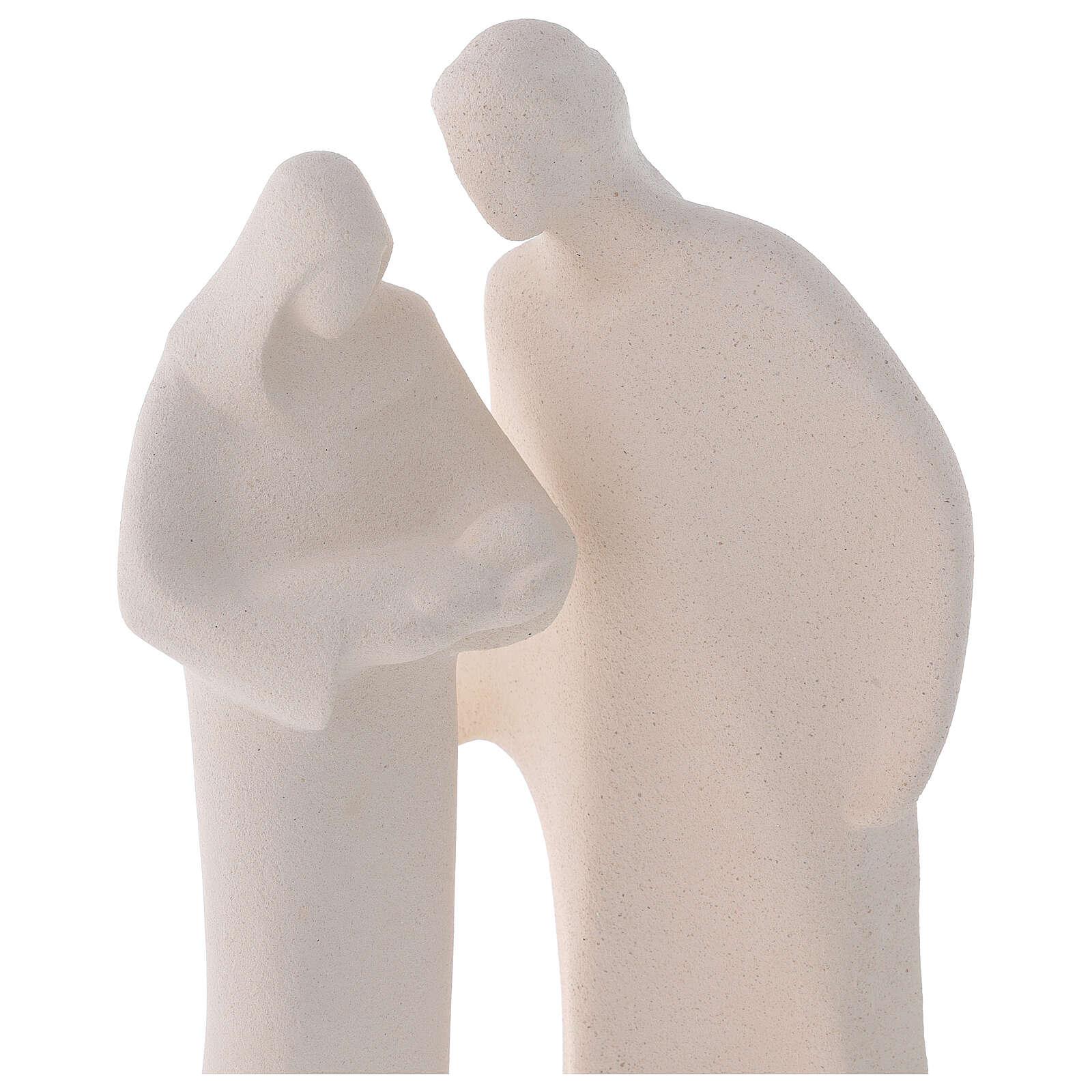 Holy Family in clay, Centro Ceramiche Ave 28cm 4