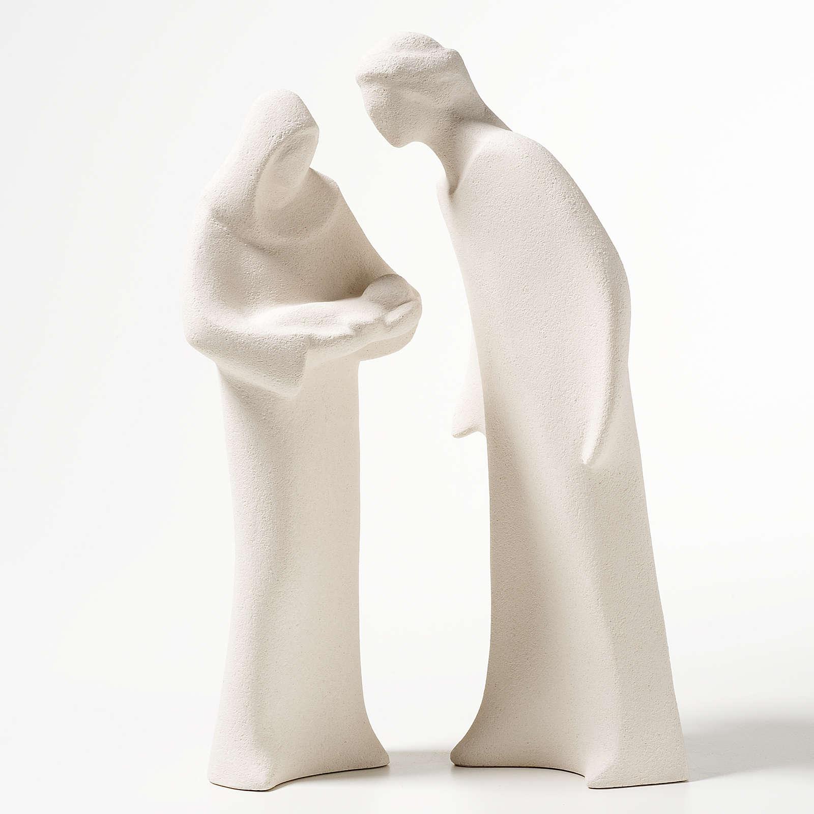 Sacra Famiglia argilla ceramica Ave 28 cm 4