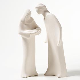 Sacra Famiglia argilla ceramica Ave 28 cm s1