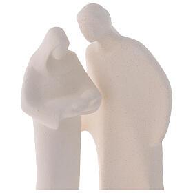 Sacra Famiglia argilla ceramica Ave 28 cm s2