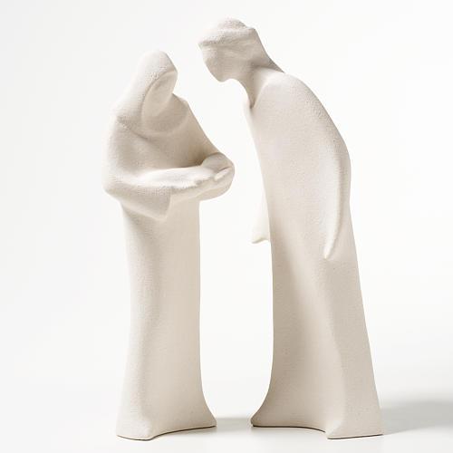 Sacra Famiglia argilla ceramica Ave 28 cm 1