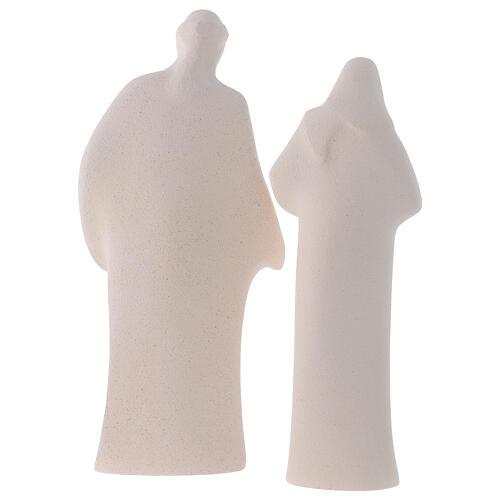 Sacra Famiglia argilla ceramica Ave 28 cm 8