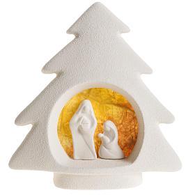 Árbol de navidad para pared, arcilla naranja s1