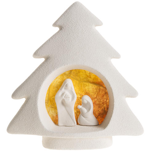Árbol de navidad para pared, arcilla naranja 1