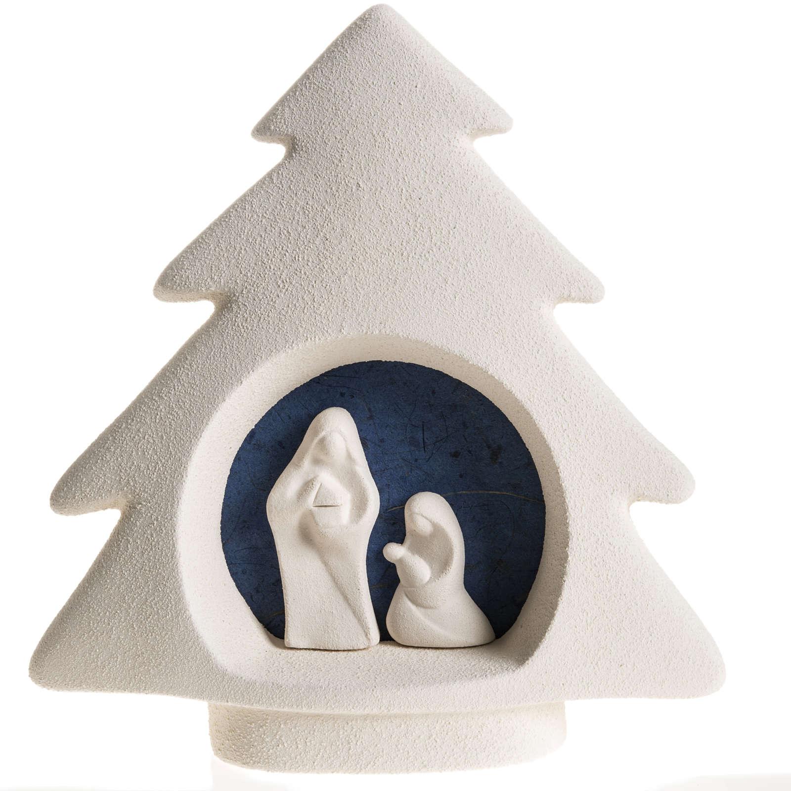 Árbol de navidad para pared en  arcilla azul 3