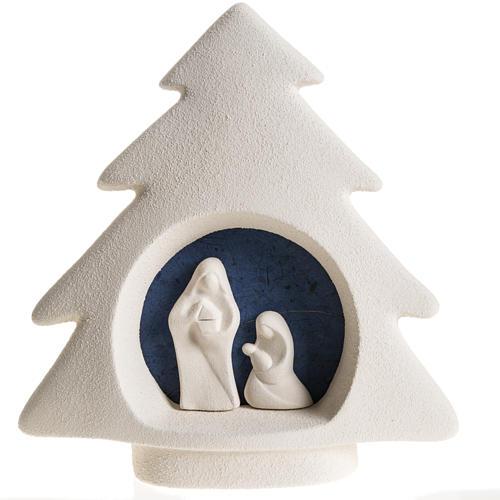Árbol de navidad para pared en  arcilla azul 1