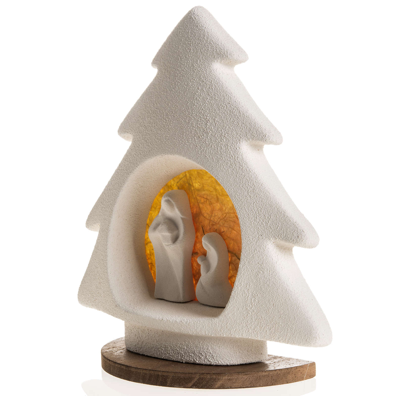 Árbol de navidad con base naranja en arcilla 3