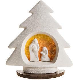 Árbol de navidad con base naranja en arcilla s1