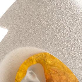 Árbol de navidad con base naranja en arcilla s5