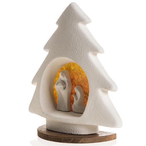 Árbol de navidad con base naranja en arcilla 4