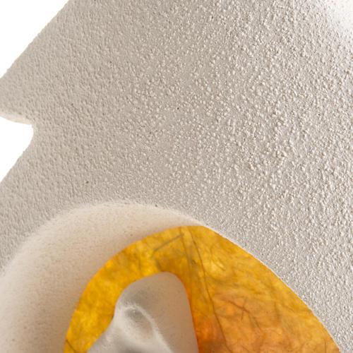 Árbol de navidad con base naranja en arcilla 5