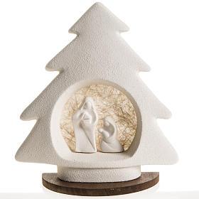 Árbol de navidad con base beige en arcilla s1