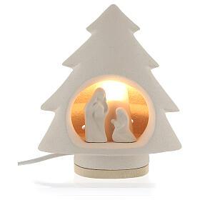 Árbol de navidad con luz, en arcilla s1