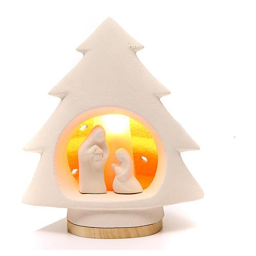 Árbol de navidad con luz, en arcilla 1