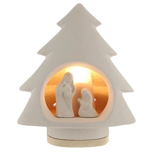 Árbol de navidad con luz, en arcilla 2
