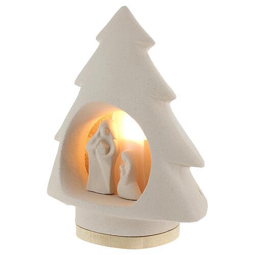 Árbol de navidad con luz, en arcilla 3